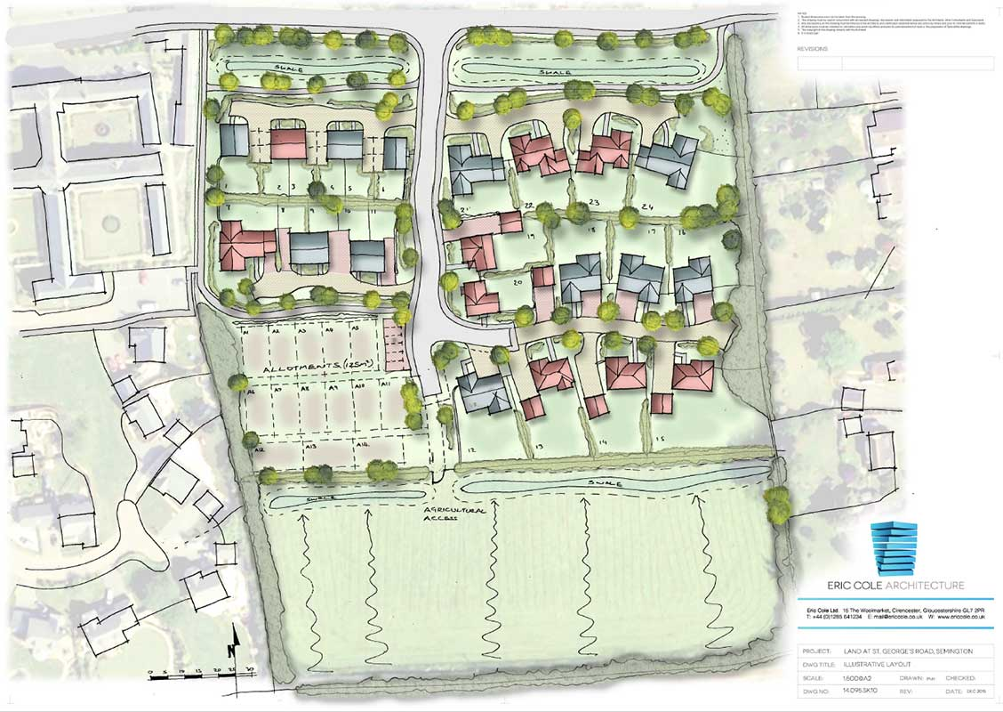 St Georges Road, Semington Masterplan
